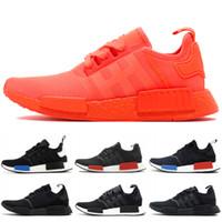 2e5fea011c1d4 2019 NMD R1 Primeknit Running Shoes Classic Triple Red Black Best Quality  Men Women Sport Shoes Designer Sneakers Trainers 36-44