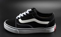 productos casuales al por mayor-Zapatos casuales Detalle del producto Clásico Negro Blanco Viejo Skool Hombres Mujeres Zapatos planos casuales Zapatillas Vanss Skateboar
