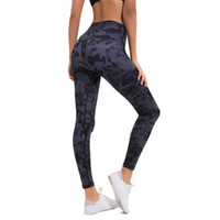 Wholesale tight lycra legging online - New Arrival Women High Waist Out Pocket Printed Yoga Tummy Control Workout Running Leggings Way Stretch Tight C19041701
