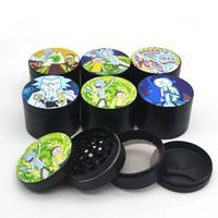 Wholesale dry herb filters resale online - Herb Grinder mm pictures layers Tobacco Grinder Smoking Metal Grinders Dry Herb Vaporizer CNC Teeth Filter
