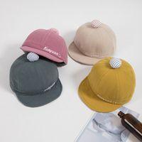 Baby Boys Girls Summer Sun Hat Cotton Smile Face Soft Brim Cap For 3-24 Months