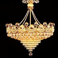 lustres luxuosos do quarto venda por atacado-Lustre de luz do hotel sala de jantar lustre de cristal atmosfera luxuosa sala de estar lâmpada de jantar lustre quarto corredor lâmpada de cristal