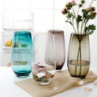 ingrosso piante di terrario-Vaso da tavolo trasparente trasparente Corlorful Mini Vaso di vetro Bottiglie Idroponica Contenitore Terrario Vaso per piante Home Office Decor