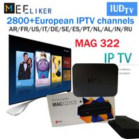 Wholesale mag 254 iptv box for sale - Group buy MAG IPTV Box IPTV subscription IUDTV with Arabic European USA Sport Live Channels Linux OS MAG322 Streaming Set Top Box