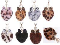 yeni aşk anahtarlığı toptan satış-YENI ilmek Anahtarlık Aşk kalp Topu Anahtarlık Araba Anahtarlık Tutucu Çanta Kolye Charm Anahtarlık Peluş Anahtarlık kalp Anahtarlık Leopar tane