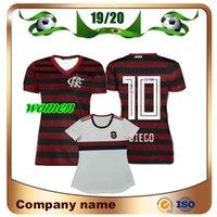 senhoras futebol futebol venda por atacado-19/20 Camisa de futebol feminino Flamengo 2019 Casa # 10 DIEGO Camisa de senhora de futebol E.RIBEIRO GUERRERO Fora garota branca Uniforme de futebol de manga curta