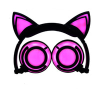 ingrosso sony lampeggia-2019 cuffie Cat Ear LED Ear cuffia cat auricolare lampeggiante auricolare Gaming auricolare per adulti e bambini (vendita al dettaglio)
