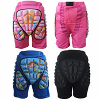 Wholesale skate protective gear resale online - Kids Skate Protective Gear kids adult Skateboarding Skiing Snowboarding Shorts Protective Hip Pads Roller anti Impact Protection Snow Gear