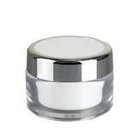 пластик для сливок 15г оптовых-15g 20g 50g Двойная стенка Pp Cream Jar - пластиковый контейнер для косметики Образец баночки для косметической упаковки Bottl