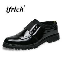 zapatos casuales para hombre al por mayor-Diseñador de alta calidad Brogue zapatos para hombre zapatos de moda de novia de novios gruesos Slip-on Lazy Mens negro calzado casual