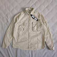 camisa de nylon homem venda por atacado-19SS 103F2 FANTASMA PIECE overshirt ALGODÃO NYLON TELA TOPST0NEY forma da camisa das mulheres dos homens do revestimento do revestimento HFLSCS045