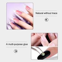 leimspitzen für nägel großhandel-10 Stück Nagelkleber für UV Acryl Strass Sticker Falsche Tips Nails Dekoration MV99
