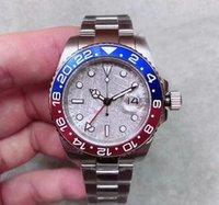relógios mens mecânica venda por atacado-2019 novo GMT moldura de cerâmica mens movimento automático de aço inoxidável relógio esportes auto-vento jubileu mestre relógios relógios de pulso