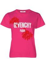 camisa de mulher rosa vermelha impressa venda por atacado-Nova moda Europeus e Americanos par de tendência de algodão rosa vermelha-impresso de manga curta T camisa polo das mulheres