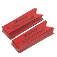 Wholesale kraft bookmarks resale online - None Set Merry Christmas Kraft Tags with m Rope as Christmas Decoration Message Card Bookmark