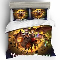 Wholesale 3d christmas bedding sets for sale - Group buy Nightmare Christmas Custom Home Textiles Bed Linen Set Halloween D King Size Bedding Set Bed Sheets and Pillowcases Bedding