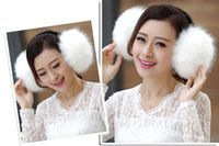 Wholesale earmuff warmer for sale - Group buy Autumn and winter warm men s and women s plush earmuff imitation fox fur ear muffle big ears warm women s