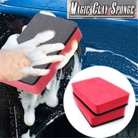 blocos de esponja venda por atacado-Magia Barro Esponja Bar Car Bloco Bloco de Borracha De Limpeza Eraser Wax Pad Polonês Ferramenta