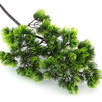 Wholesale plastic decorative pieces for sale - Group buy 1 Piece Decorative Plant Pine Branch Plastic Artificial Green Plants Fake Pine Branches For Home Office Deor CM