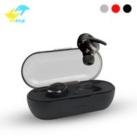 Wholesale wireless headphones for mobile phones resale online - Vitog W4 tws Wireless Bluetooth Earphones Headphones True Earbuds Headphone bluetooth With Mic Bluetooth Headset For Mobile phone