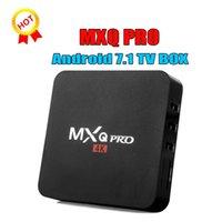 ingrosso fabbrica personalizzata-Vendita in fabbrica OEM MX2 MXQ PRO 4K RK3229 Quad Core Android 7.1 TV BOX con lettore multimediale 4K personalizzato Migliore TX3 X96 MINI S905W