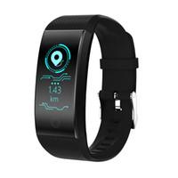Wholesale pet monitoring camera resale online - QW18 Smart Bracelet Blood Oxygen Blood Pressure Heart Rate Monitor IP67 Waterproof Fitness Tracker Smart Wristwatch For iPhone Andorid Watch