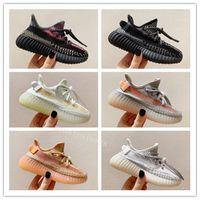 Wholesale children lighting shoes for sale - Group buy 2020 New Kids Kanye West M Static Running Shoes Children Israfil Cinder Desert Sage Earth Tail Light Zebra Boys Girls Trainers Sneakers