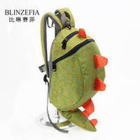 Wholesale cute backpacks free shipping resale online - New Children Cute Korean Dragon Shape Polyster Backpack Schoolbag BZ5003