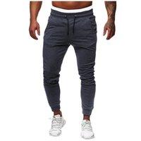 ingrosso tasca baguette di sweatpants-Pantaloni Uomo Pantaloni felpa allentamenti 2019 maschio di nuovo modo di Hip casuale elastico Tuta Sport Solid Baggy Trousers intasca JAYCOSIN