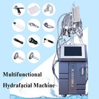 máquinas faciales de microcorriente caseras al por mayor-10 en 1 hydra facial máquina diamante hidro microdermabrasión belleza oxigenación equipos para el hogar microcurrent herramienta facial herramienta facial