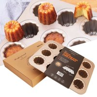 Wholesale homemade tools resale online - Cannele in1 Cups Carbon Steel Non stick Cake Baking Mold Homemade Cake Kitchen Baking Tools High Temperature Resistance Mold T191018