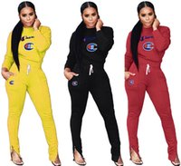 Wholesale racing trousers for sale - Group buy Women Designer Sweatsuit Hoodies Leggings Two Piece Sets Tracksuit Trousers Slim Pants Outfits Fall Winter HOT Selling DHL