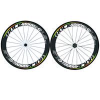 rennrad räder räder groihandel-Werksverkauf 700C Carbon Laufradsatz Schlauchreifen 50mm 88mm Carbon Fahrrad Laufräder Drahtreifen Rennrad Laufräder Basalt Bremsen