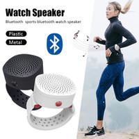 relojes de pulsera unisex al por mayor-Mini portátil Smart Wireless Bluetooth 4.2 Reloj Altavoz Deporte al aire libre MP3 Reproductor de música USB