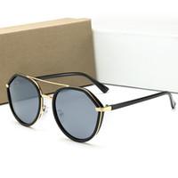 markalar kutusu toptan satış-Dior 22009 15 Renk Seçmek Için Marka Tasarımcısı Erkek Kadın Polarize Güneş Gözlüğü Yarı Çerçevesiz Güneş Gözlükleri Altın Çerçeve Polaroid lens Ile Kahverengi Durumda ve kutu