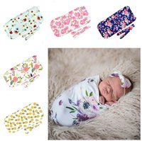 ingrosso props del bozzolo del bambino-Baby Girl Clothes Swaddle Coperta Kids Designer Clothes Girls Photo Puntelli Toddler Baby Cocoon Sleeping Bags Swaddle Wrap con fascia