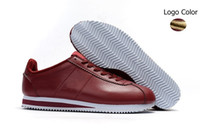 Wholesale rubber cost for sale - Group buy 2019 fashion Cortez basic leather low cost fashion men s and women s black white red gold skateboard casual shoes size