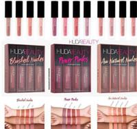 braune lippenstifte großhandel-Matt Lipgloss Kit Beauty Rot Nude Braun Pink Edition Flüssiger Lippenstift Make-up Wasserdicht Langlebiger Lipgloss