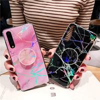 téléphone portable achat en gros de-Holo Cover Housse en marbre pour iPhone XS Max XR Samsung Galaxy S10 Plus S10e Huawei Mate 20 P30 P20 Pro