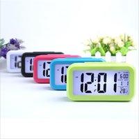 ingrosso temperatura del calendario della sveglia-Allarme LED Digital Clock Backlight Time del calendario di temperatura del termometro silenzioso Desk Clock Tabella 5 COLORE KKA7094