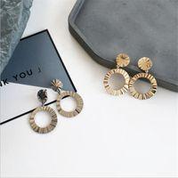 düğüm şeklinde mücevherat toptan satış-Kadın Pullu Bling Dalga Küpe Moda Yüksek Sokak Charm Knot Tasarımcı Yüzük Şekli Kadın Küpe Takı