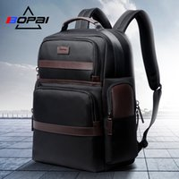 Wholesale backpack for men travel laptop resale online - BOPAI Oxford Travel Laptop Men Backpack Casual Business Fashion Male Office Work Back Pack Bags Big School Backpack for MaleMX190903