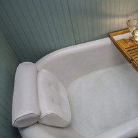 xícaras de sucção de banheira venda por atacado-3D Malha Antiderrapante Banheira Travesseiro Espessamento Banho Travesseiro Macio SPA Encosto De Cabeça Com Encosto Ventosa Pescoço Coxim Acessórios de Abastecimento Do Banheiro