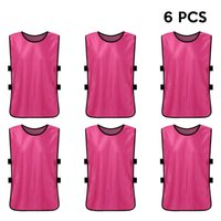 Wholesale football training vests resale online - 6PCS Adults Quick Drying Basketball Football Jerseys Soccer Vest Pinnies Practice Team Training Sports Vest Team Training Bibs