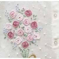 ingrosso tessuti applique-Lace Fiore colorato Copribordi Ribbon Larghezza stile dell'annata squadrata di ritagli di tessuto ricamato di Applique mestiere di cucito Decoration 04