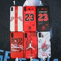 marcas de celulares de luxo venda por atacado-Para iphone xs max x xr phone case marca de basquete sapatos de luxo para apple 7 8 6 plus silicone casos de telefone celular macio