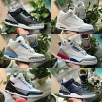 zapatillas de baloncesto gratis al por mayor-2019 Nike Air Jordan 3 Shoes Air max michael jordans retro  para hombre Tinker Katrina JTH Tiro libre Linell Chicago OG Zapatillas de deporte de diseñador de cemento en negro real
