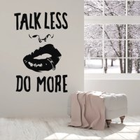Wholesale piercings for lip for sale - Group buy Quote Talk Less Do More Vinyl Wall Decal Sexy Girl Lips Piercing Stickers For Office Art Wall Murals Decor Study Room