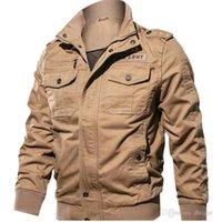 ingrosso abiti militari-Uomini volanti attrezzatura di sport Giacca Tipo Grazie giacca verde militare dell'esercito da pilota Plus Size M-4XL