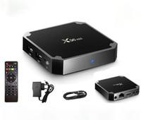 quad kern tv-box dhl versand großhandel-Fernsehapparat-Kasten-Media-Player Amlogic S905W des Fernsehkastens X96 mini Fernsehapparat-X96 Minikern WiFi 4K gesetzter Spitzenkasten Freies DHL-Verschiffen